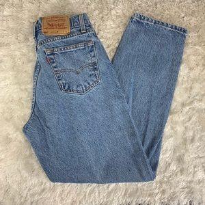 "Vintage Levi's 560 Mom Jeans Sz 5 27"" waist Faded"